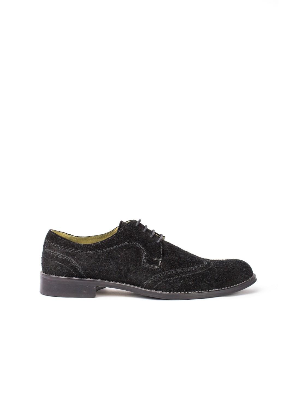 Pantofi Barbati piele naturala negru Justinian