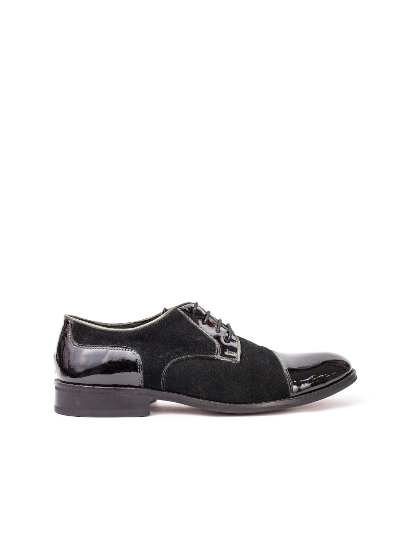 Pantofi Barbati piele naturala negru Ovidiu