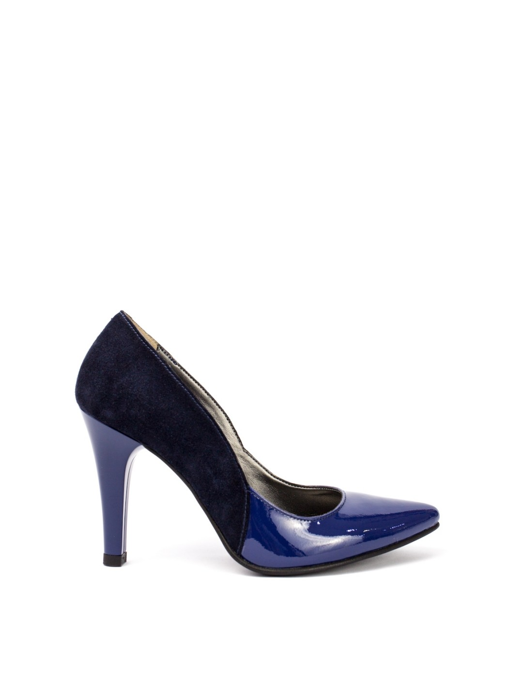 Pantofi Dama piele naturala albastru Cecilia
