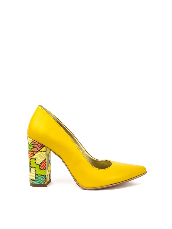 Pantofi Dama piele naturala galben Patricia