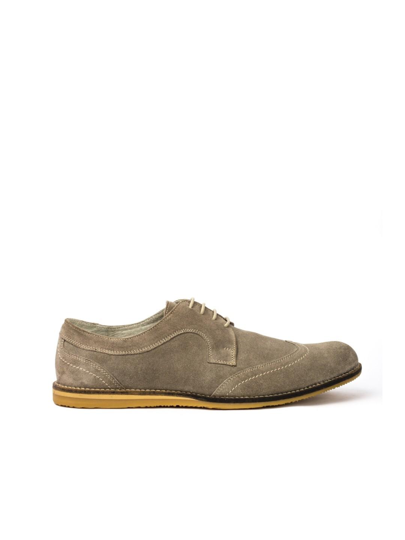 Pantofi Barbati piele naturala gri Tudor