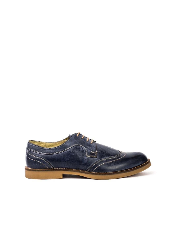 Pantofi Barbati piele naturala albastru Miron
