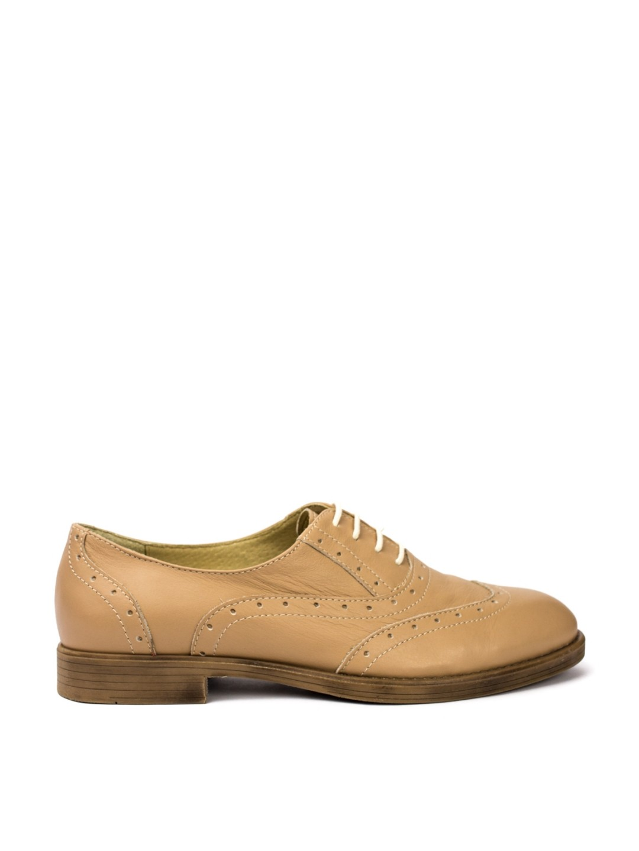 Pantofi Dama piele naturala bej Velma