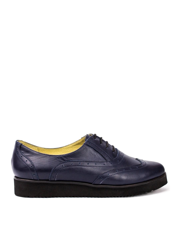 Pantofi Dama piele naturala bleumarin Timea