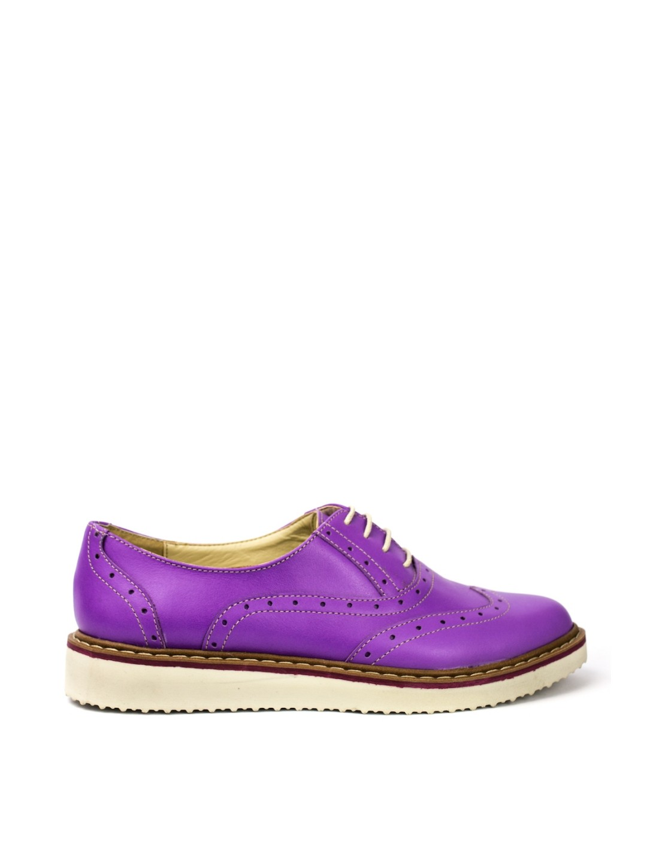 Pantofi Dama piele naturala mov Maura