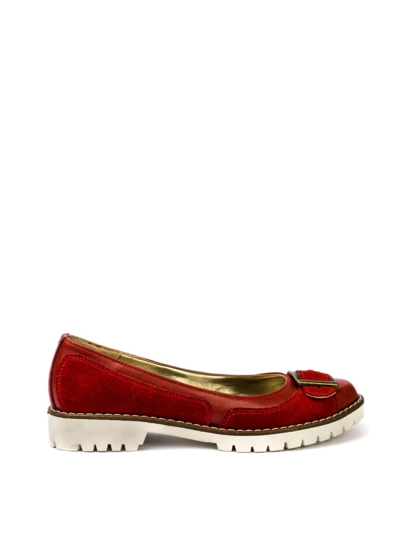 Pantofi Dama piele naturala rosu Teresa
