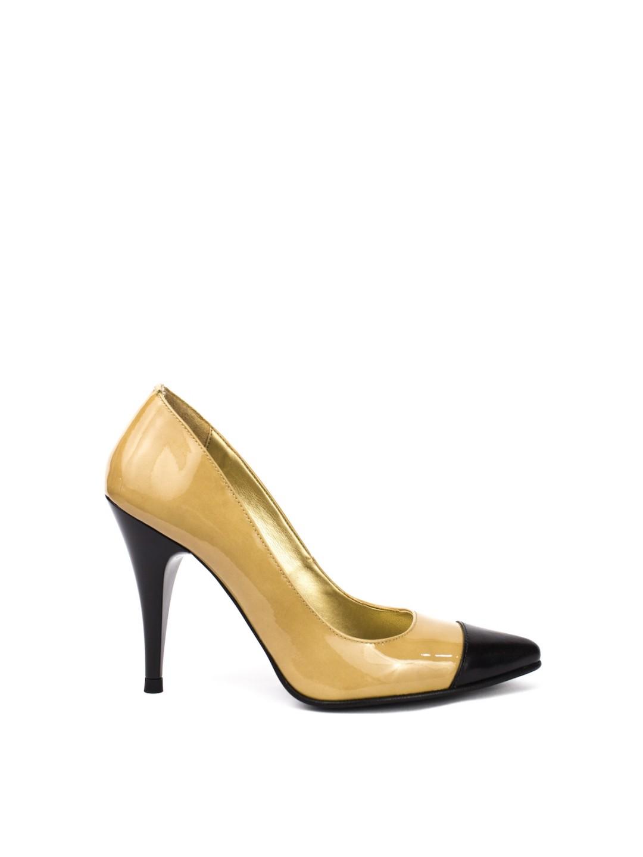 Pantofi Dama piele naturala bej Octavia