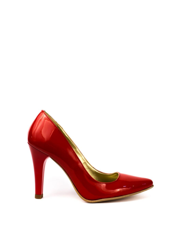 Pantofi Dama piele naturala rosu Lucia