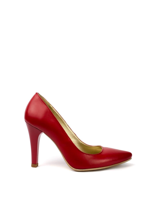 Pantofi Dama piele naturala rosu Liliana