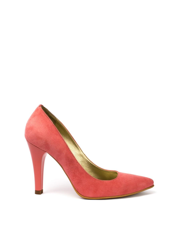 Pantofi Dama piele naturala roz Ema
