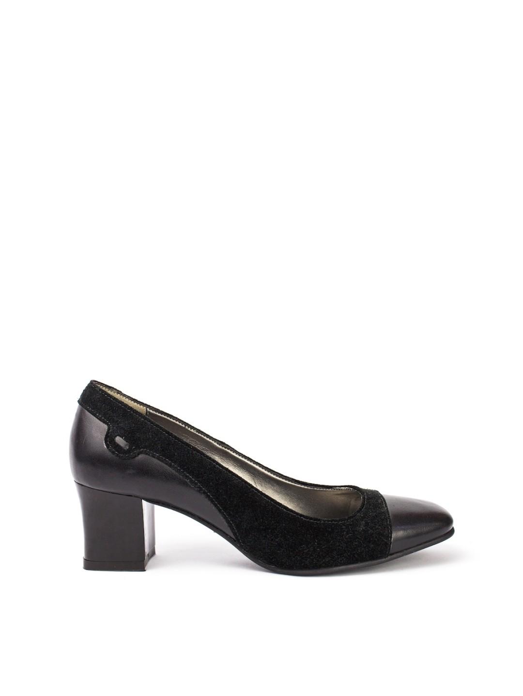 Pantofi Dama piele naturala bleumarin Anita