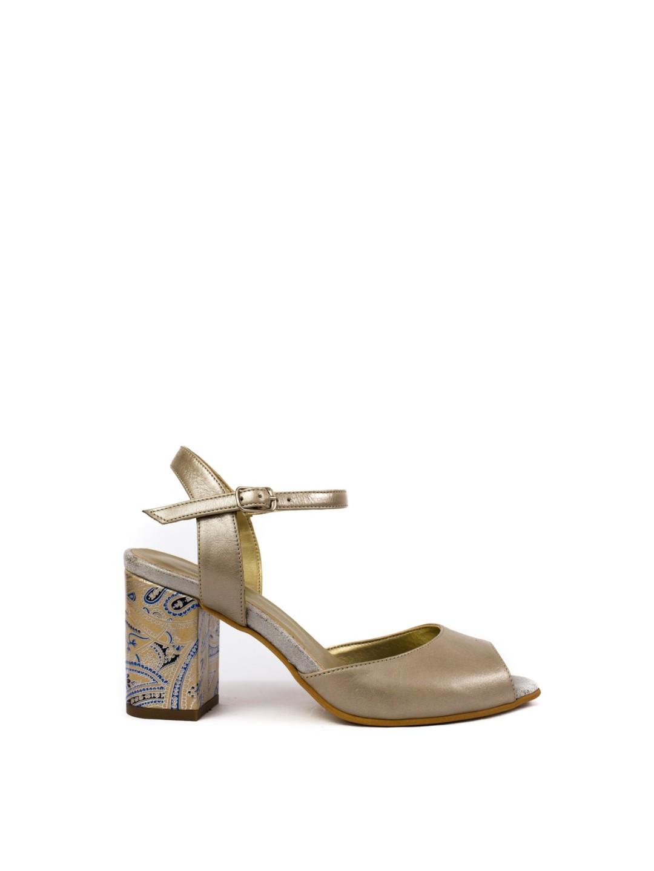 Sandale Dama piele naturala argintiu Wendy