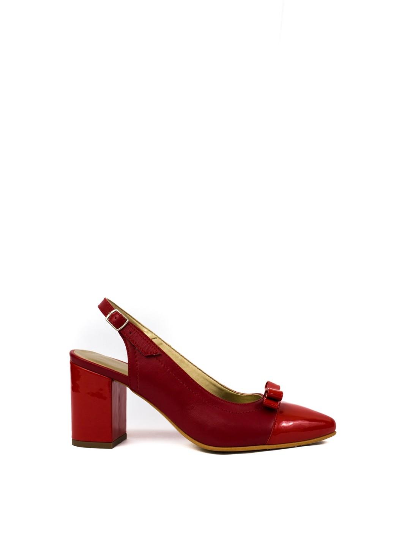 Sandale Dama piele naturala rosu Floris