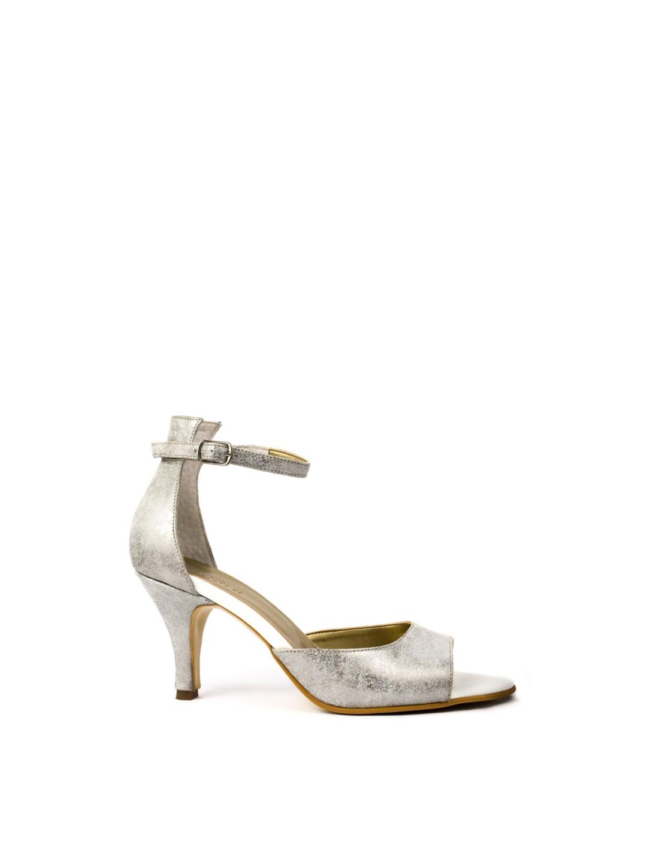 Sandale Dama piele naturala argintiu Nora