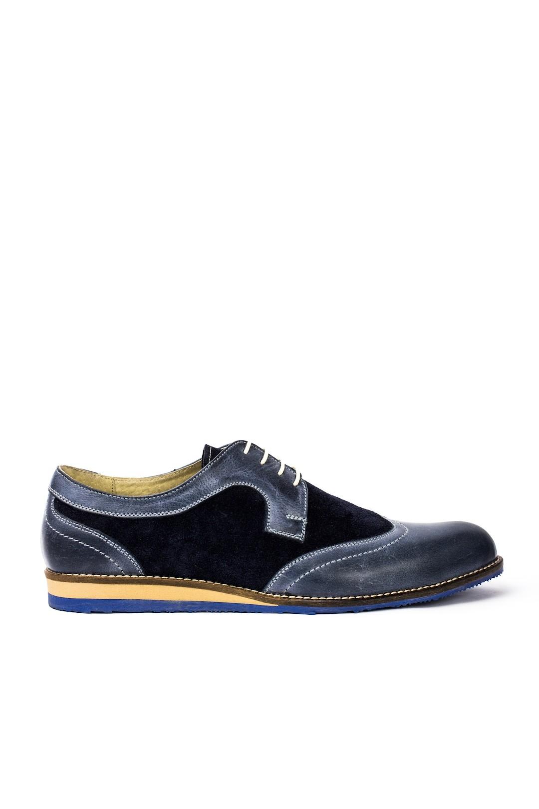 Pantofi Barbati piele naturala albastru Paul