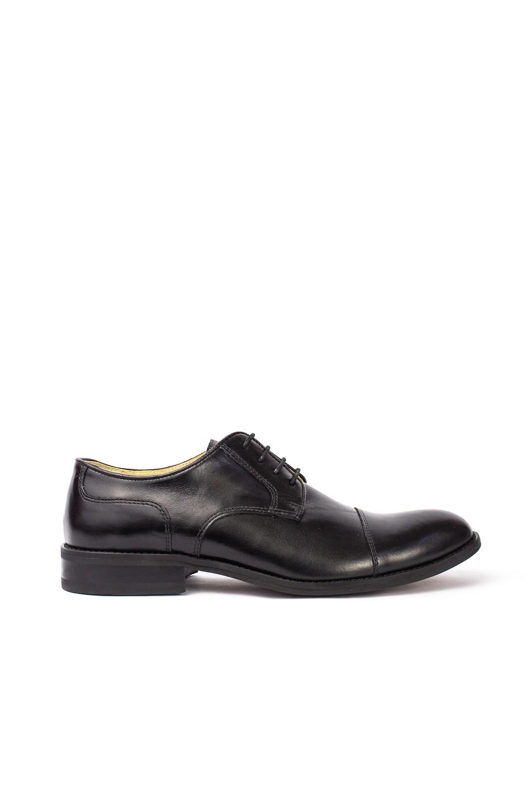 Pantofi Barbati piele naturala negru Adam