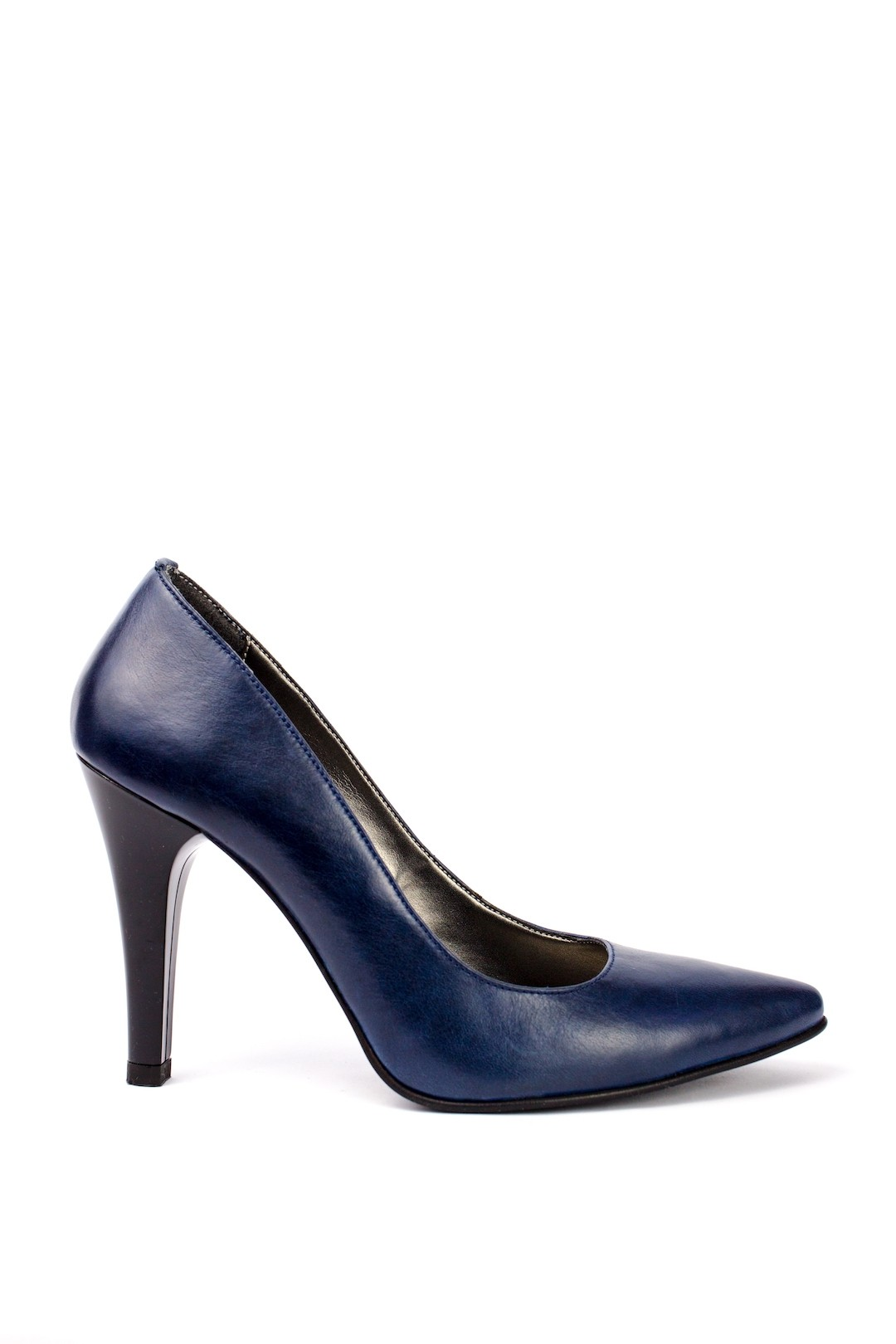Pantofi Dama piele naturala albastru Lena