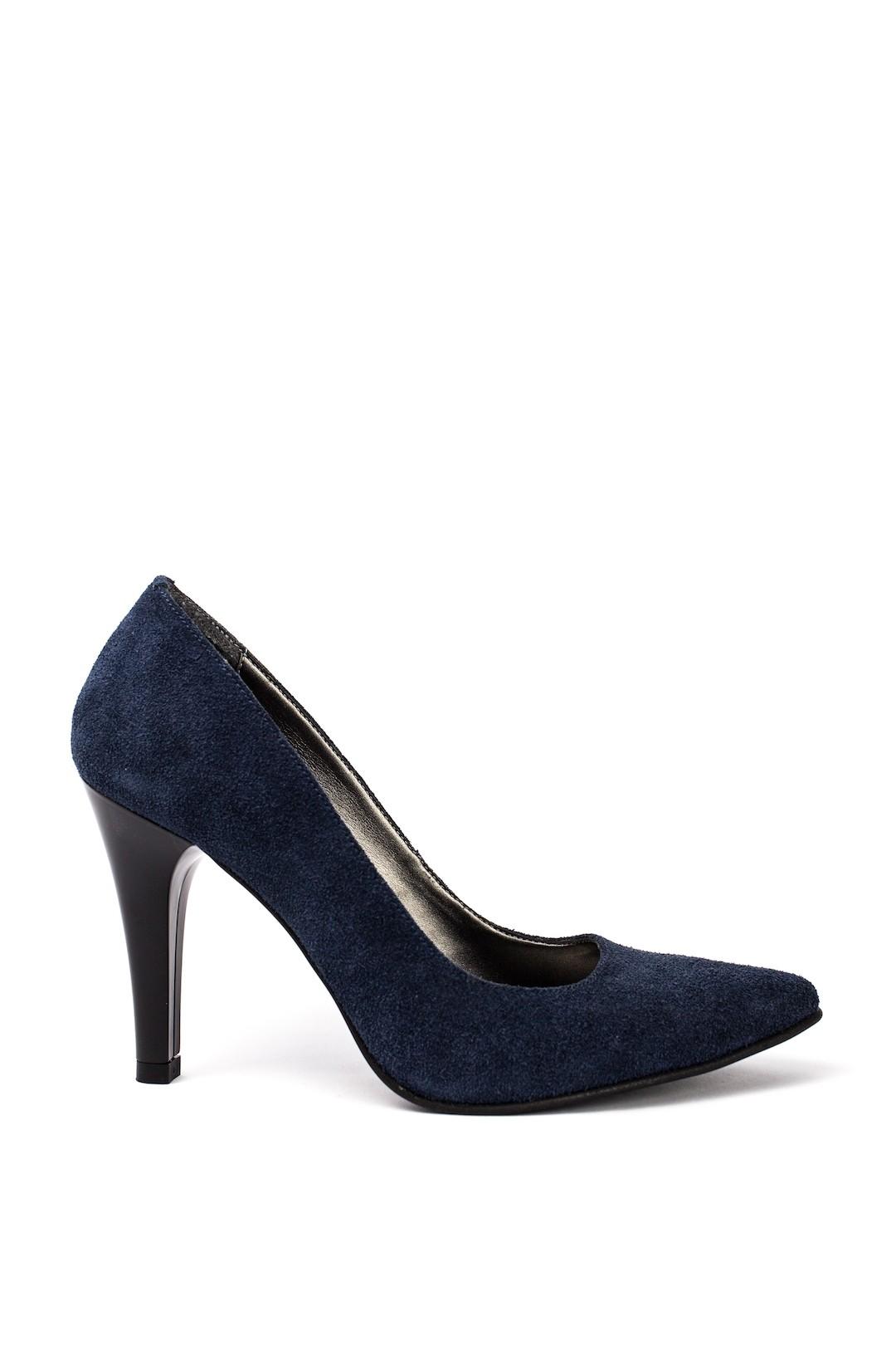 Pantofi Dama piele naturala albastru Lisandra