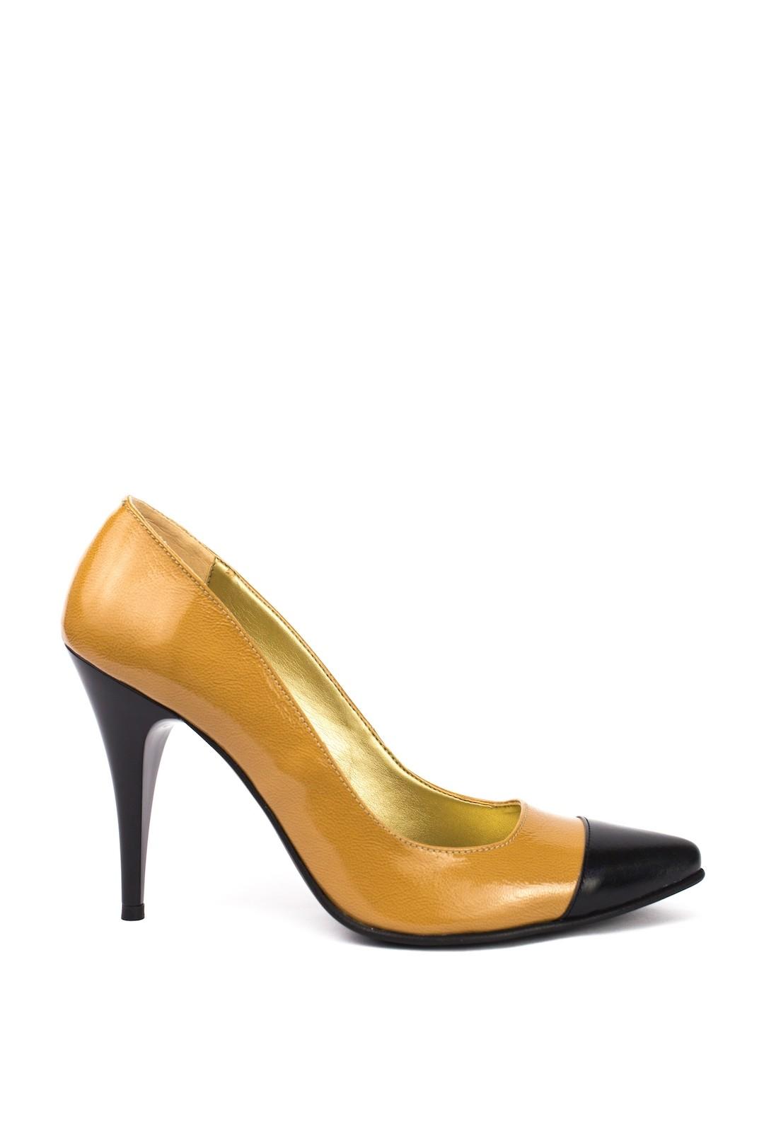 Pantofi Dama piele naturala bej Ofelia
