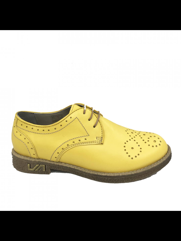 Pantofi Dama piele naturala galben Larisa