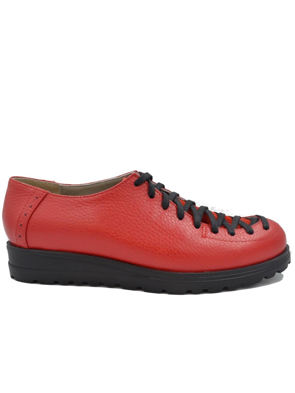 Pantofi Dama piele naturala rosu Fabia