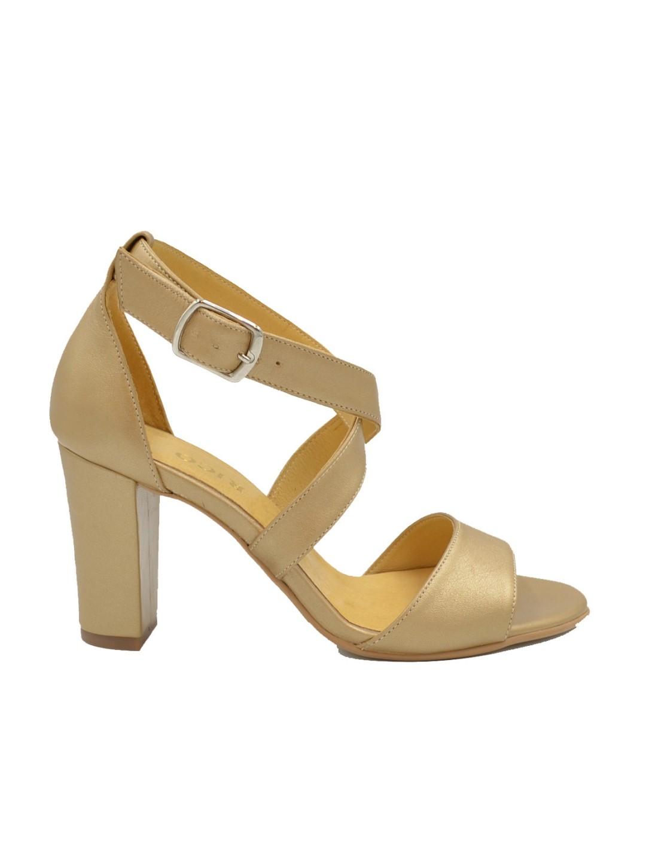 Sandale Dama piele naturala auriu Letitia