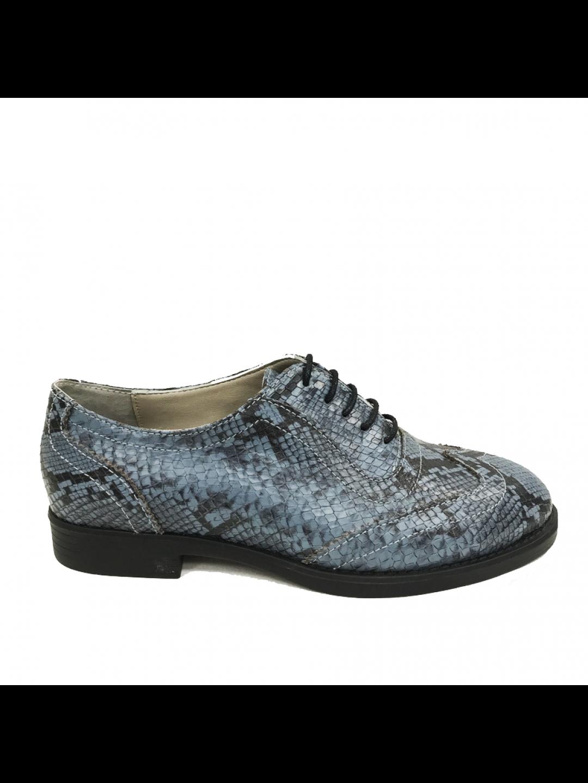 Pantofi Dama piele naturala albastru Mirabela