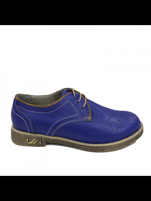 Pantofi Dama piele naturala albastru Luminita