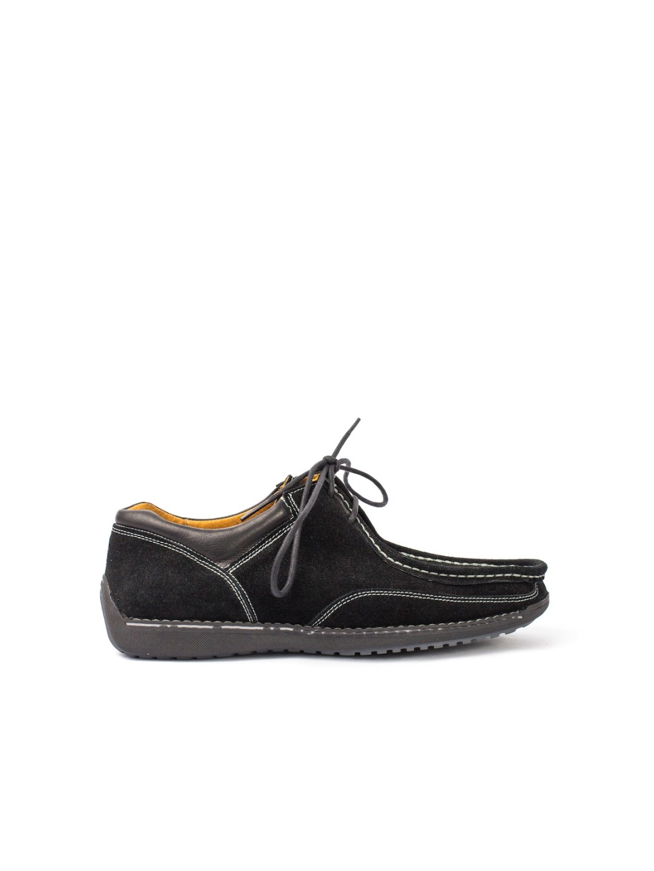 Pantofi Barbati piele naturala negru Iustin