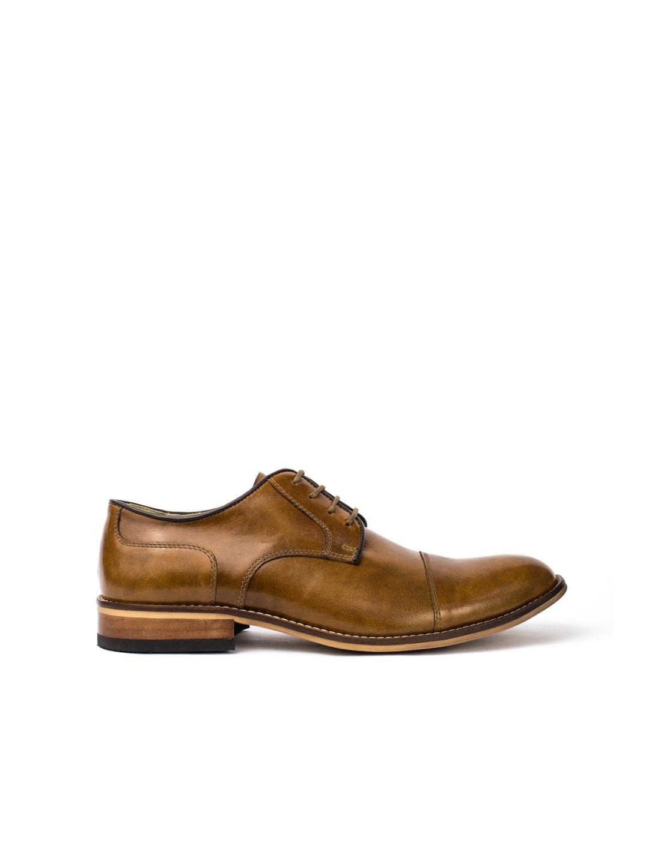 Pantofi Barbati piele naturala maro Leonard