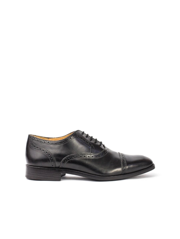 Pantofi Barbati piele naturala negru Victor
