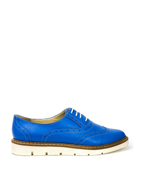 Pantofi Dama piele naturala albastru Magnolia