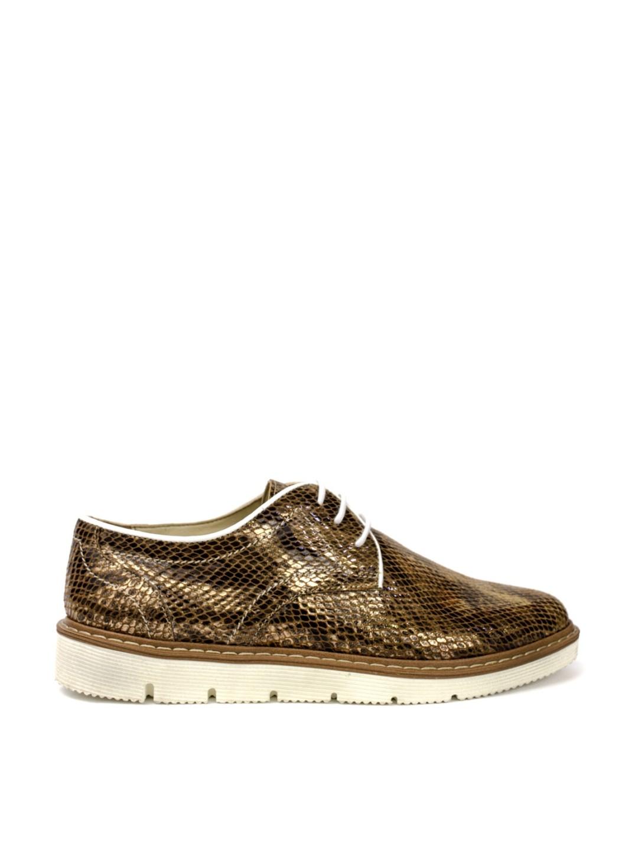 Pantofi Dama piele naturala auriu Ilaria