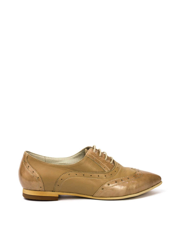 Pantofi Dama piele naturala maro Augustina