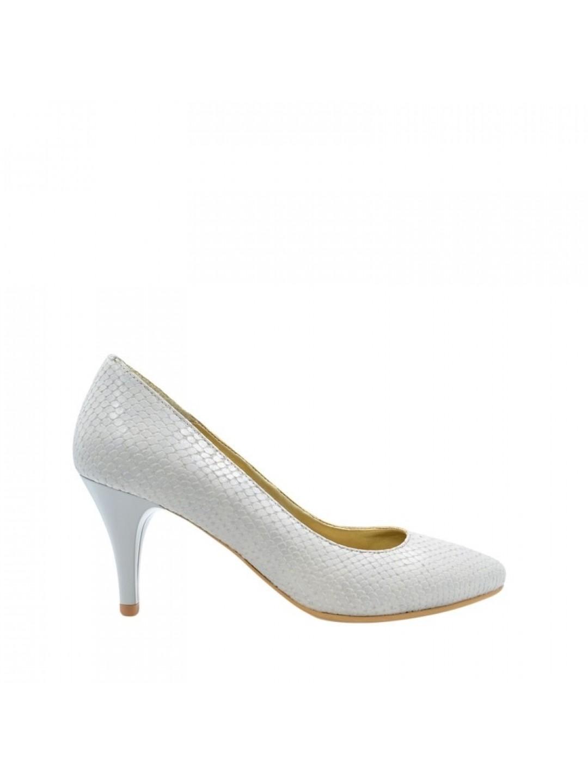 Pantofi Dama piele naturala gri Cerasela