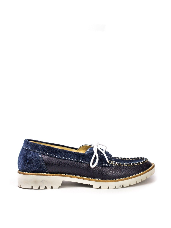 Pantofi Dama piele naturala albastru Alida