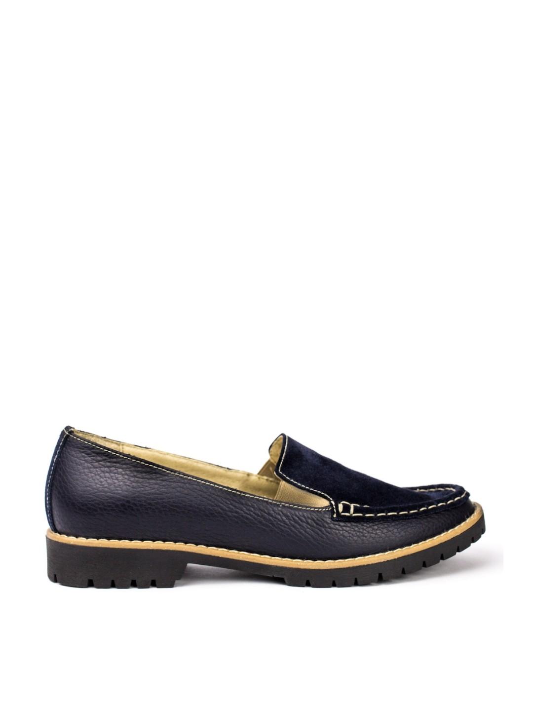 Pantofi Dama piele naturala bleumarin Amira