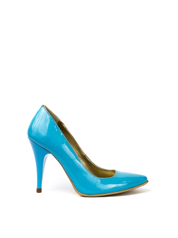 Pantofi Dama piele naturala albastru Elvira