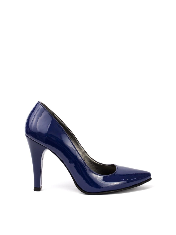 Pantofi Dama piele lac albastru lapice Eliza