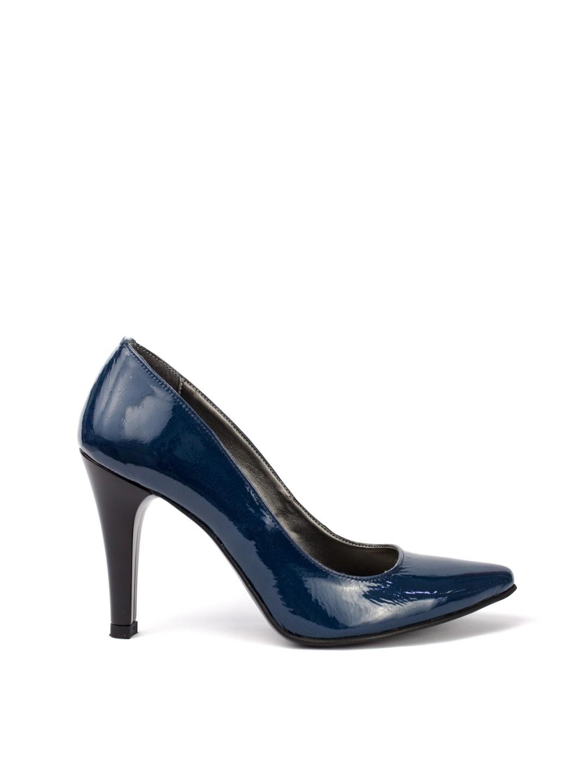 Pantofi Dama piele naturala albastru Aurora
