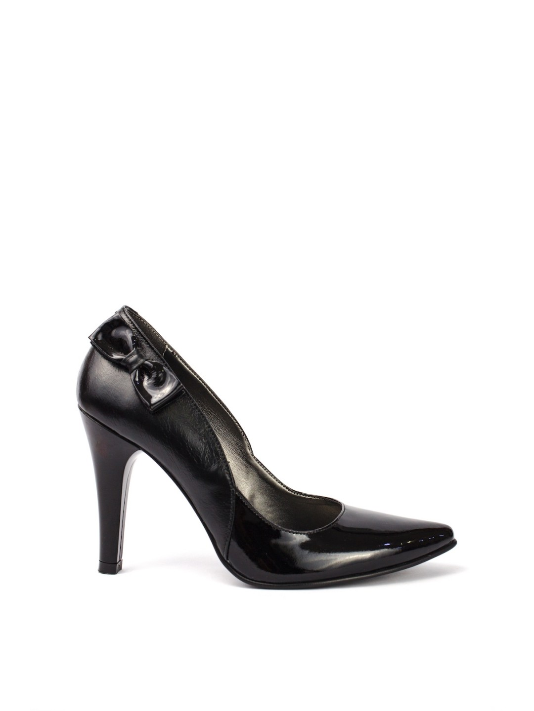Pantofi Dama piele naturala negru Lidia