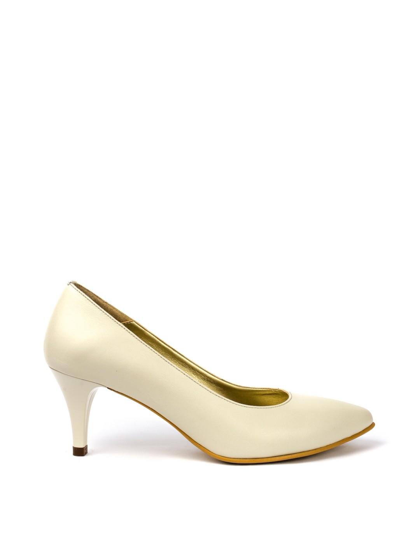 Pantofi Dama piele naturala ivoir Tina