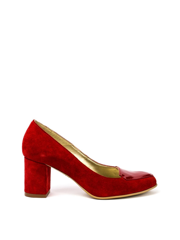 Pantofi Dama piele naturala rosu Alice