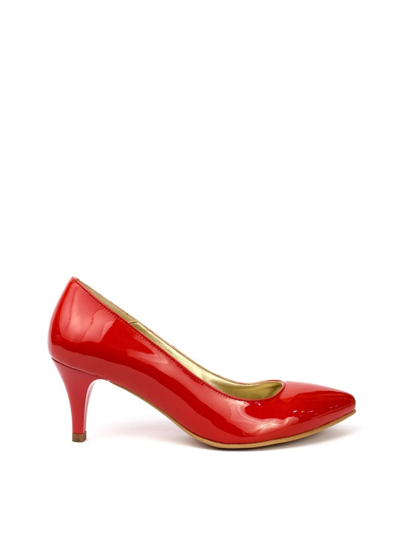 Pantofi Dama piele naturala rosu Teodora