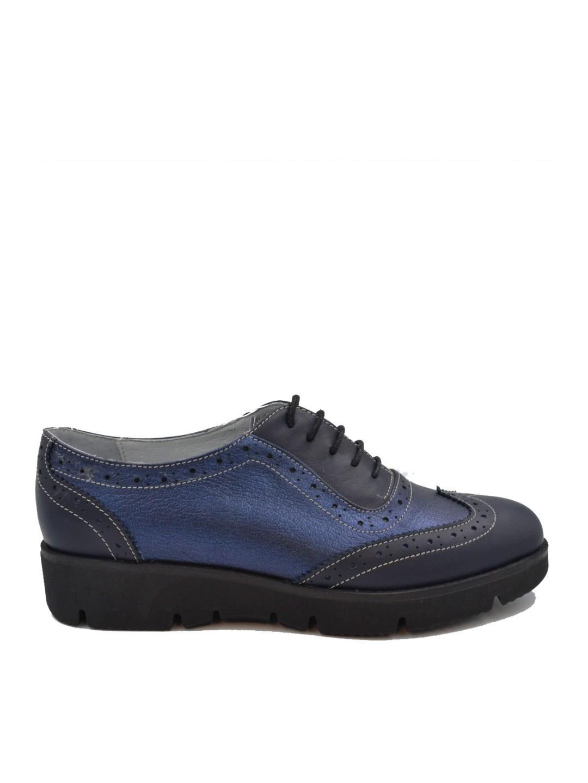 Pantofi Dama piele naturala albastru Melisa