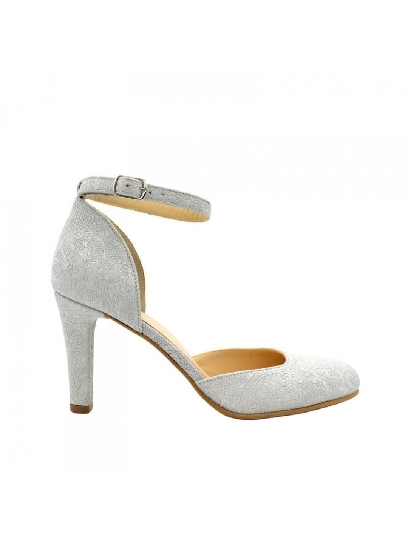 Sandale Dama piele naturala gri Ilinca
