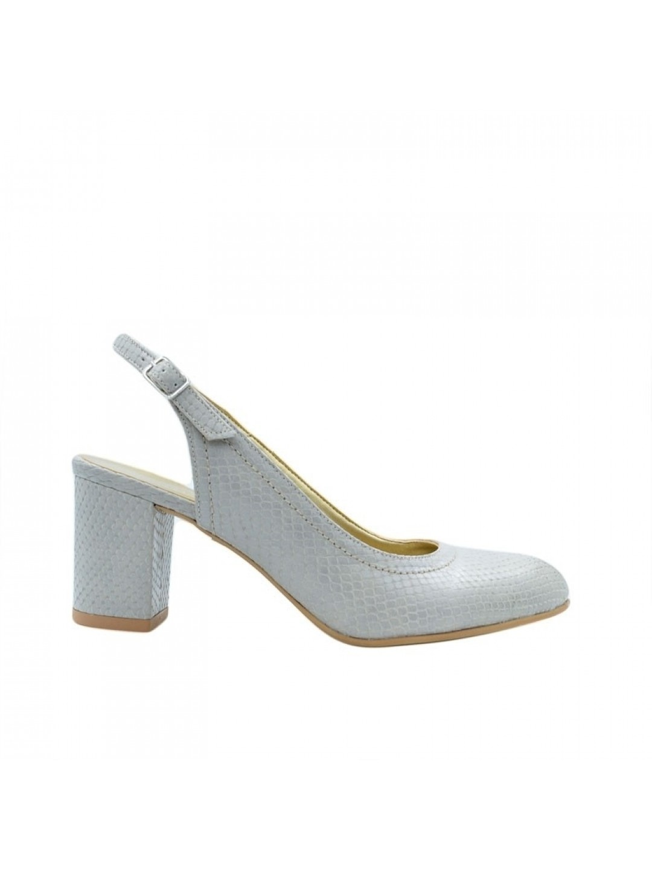 Sandale Dama piele naturala gri Iolanda