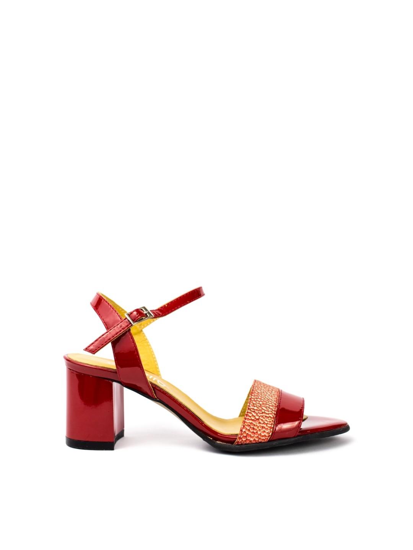 Sandale Dama piele naturala rosu Nadina