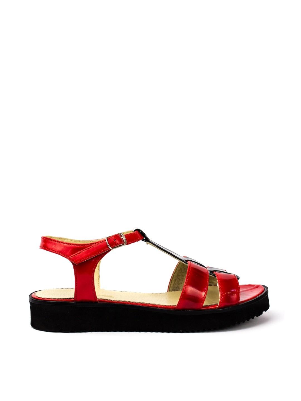 Sandale Dama piele naturala rosu Simina