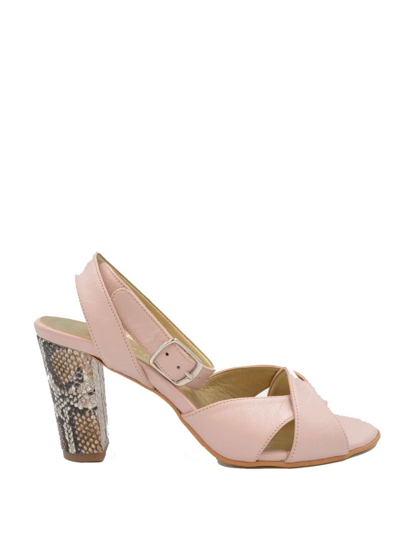 Sandale Dama piele naturala roz Georgiana